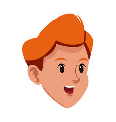 head boy laugh young avatar vector image