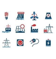 Icon Set Energy and Industry vector image