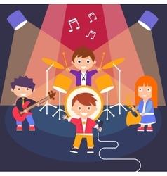Kids Rock Band vector image