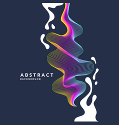 Abstract background with a dynamic waves linesn vector