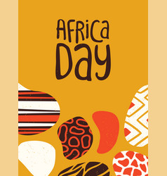 Africa day poster tribal african art vector