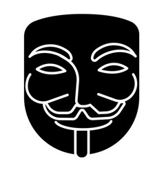 Anonymous - mask carnival - hacker icon vector