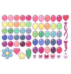 balloons set clip art vector image