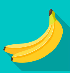 banana flat design vector image