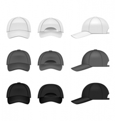 baseball cap collection vector image