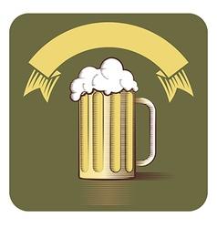 Beer gravoure vector