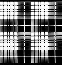 Blackberry tartan black white pixel seamless vector