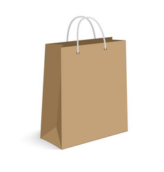 Blank shopping bag on white for advertising and vector