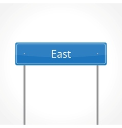 Blue east traffic sign vector image