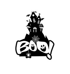 Boo typography design vector