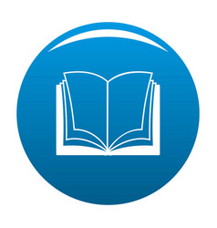 Book dictionary icon blue vector