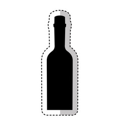 bottle drink silhouette isolated icon vector image vector image