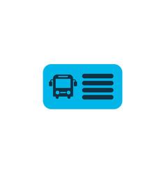 Bus ticket icon colored symbol premium quality vector