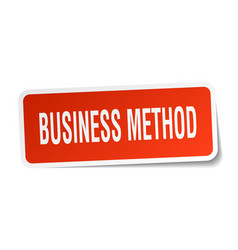 Business method square sticker on white vector