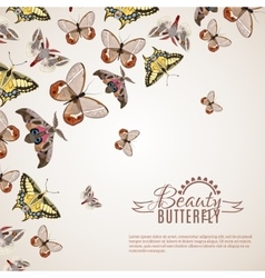 Butterfly Realistic Background vector