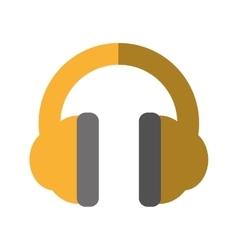 Cartoon hearing protection industrial element vector