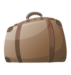 cartoon suitcase for rest travel bag drawing for vector image