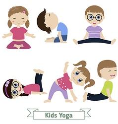 Children yoga vector