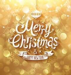 christmas golden bg vector image