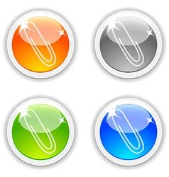 Clip buttons vector