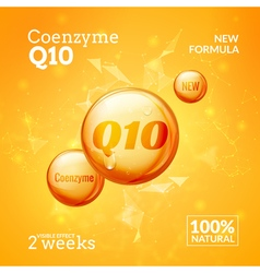 Coenzyme Q10 Supreme serum collagen oil drop vector image