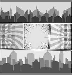 comic book monochrome template vector image