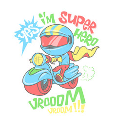 Cool scooter shirt print design vector