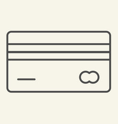 credit card thin line icon plastic card vector image