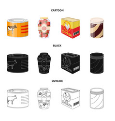 design of can and food symbol collection vector image