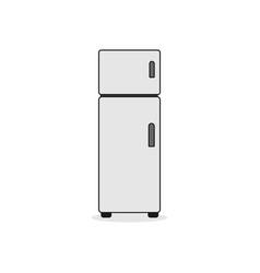 double door refrigerator vector image