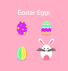 easter eggs collection for easter day vector image