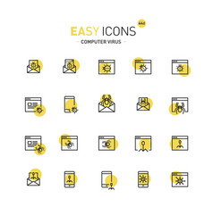 Easy icons 44a computer security vector