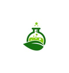 eco science lab logo icon design vector image