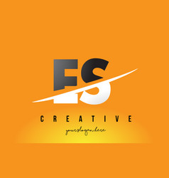 Es e s letter modern logo design with yellow vector