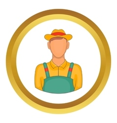 Farmer icon vector