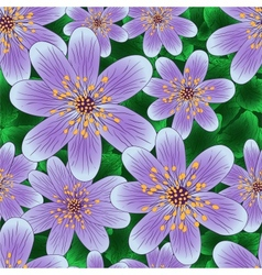 Floral seamless pattern with hand-written violets vector image