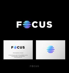 Focus logo photo studio equipment emblem web ui vector