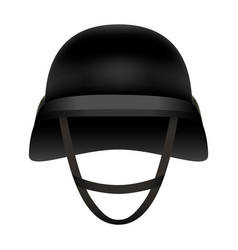 front of black helmet mockup realistic style vector image