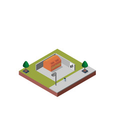Garbage container in isometric projection vector