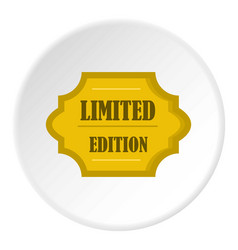 Golden limited edition label icon circle vector