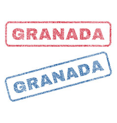 granada textile stamps vector image
