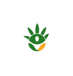 green hand symbol logo vector image
