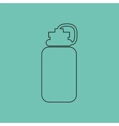 gym water bottle design vector image