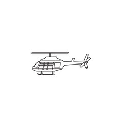 Helicopter icon transport aircraft symbol vector