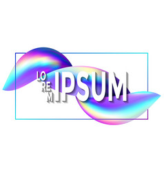 holographic banner with frame and gradient vector image