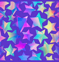 holographic star pattern vector image