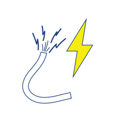 icon of wire vector image