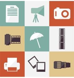 Icon set photographer vector
