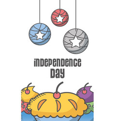 independence day american vector image