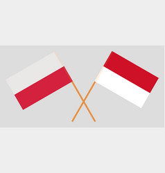 Indonesian and polish flags vector